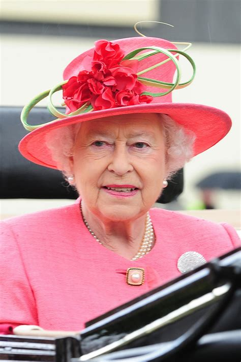 Queen Elizabeth II on the third day of Royal Ascot 3 of 37