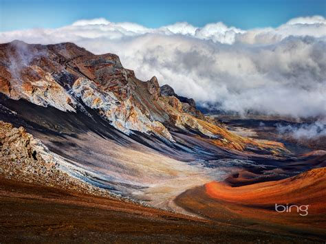 Volcanic Landscape-August 2013 Bing wallpaper Preview