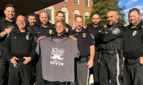 Burlington County Sheriff's Department officers growing