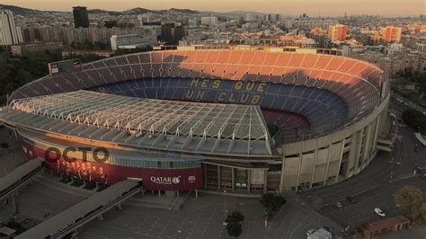 FC Barcelona Camp Nou (vídeo aéreo con dron) - YouTube