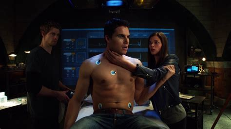Robbie Amell as Stephen Jameson shirtless in The Tomorrow