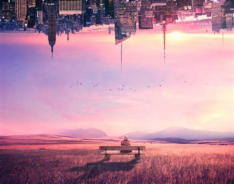 How to Create a Scene of an Upside Down City With Adobe