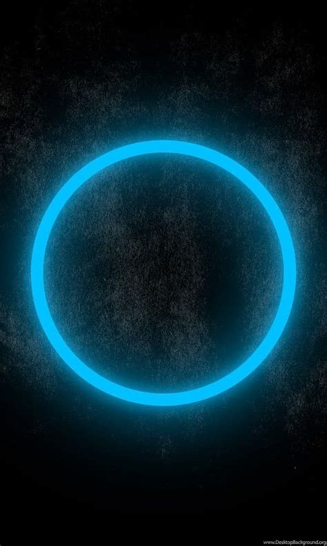 Blue Neon Circle Glowing In The Dark Wallpapers 23834