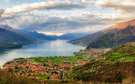 Region Lombardy Lake Como In Northern Italy Landscape Of