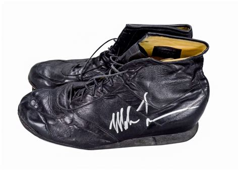 Lot Detail - Mike Tyson Signed Shoes Worn To Train For