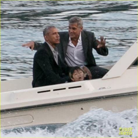 George Clooney & Barack Obama Hang Out Together in Italy