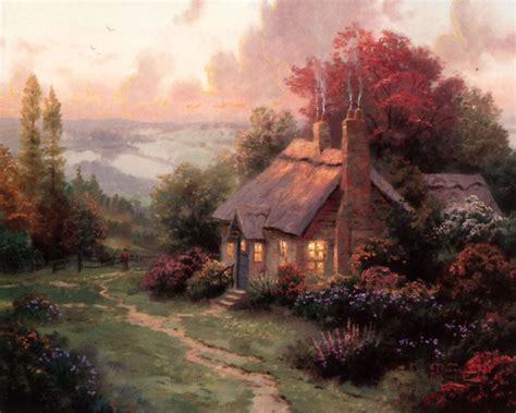 Welcome Home - Thomas Kinkade - World-Wide-Art